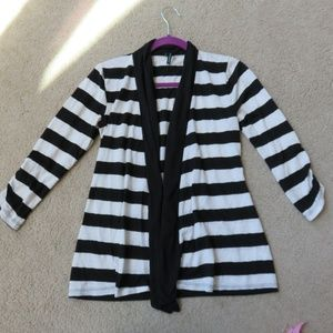 Maurices Women's Small Black & White Cardigan